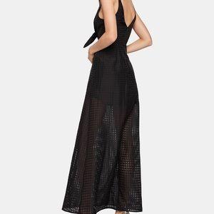 Gorgeous BCBG Checkered-Organza Maxi Dress